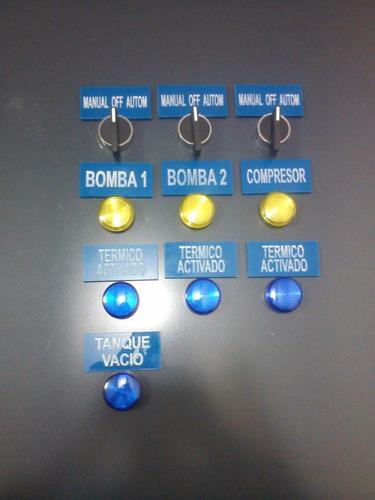tablero de control dos bombas trifasicas con compresor