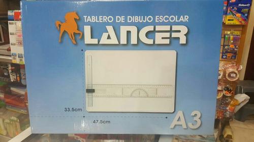 tablero de dibujo a3 plastico marca lancer