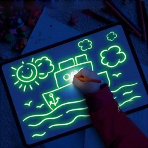 tablero de dibujo luminoso led graffiti doodle pintura table