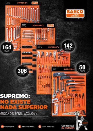 tablero de herramientas bahco supremo 662 pzas 4 chapones