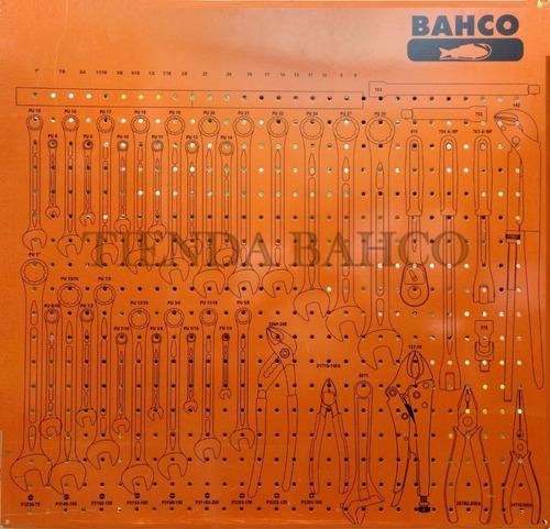 tablero de mantenimiento 1/b bahco chapa + 72 piezas 98x80cm