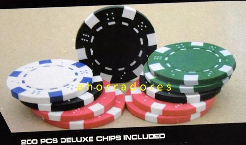 tablero de poker plegable 8 jugadores. 100 fichas y cartas
