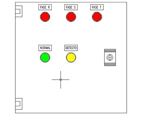 tablero de proteccion trifasico con rele de control de fases