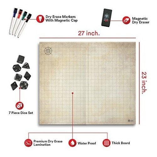 tablero del juego original battle grid 27 x 23 dungeons and