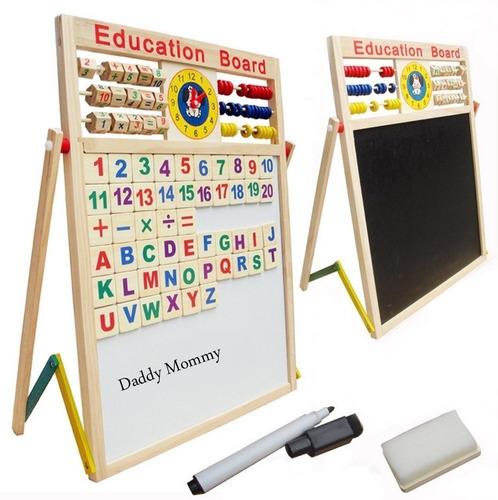 tablero didáctico doble magnético juguete niños aprendizaje