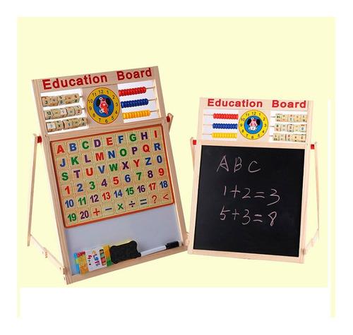 tablero didáctico educativo doble magnético juguete niños