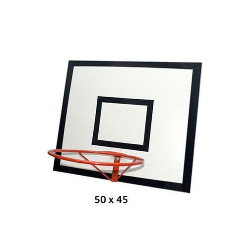 tablero doblazo de madera 50x45 incluye aro de 32 cm hierro