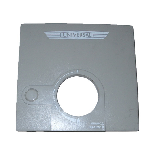 tablero frente calefon universal color negro 125/145 08429/3