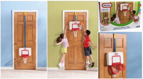 tablero juego portatil de basketball little tikes unisex