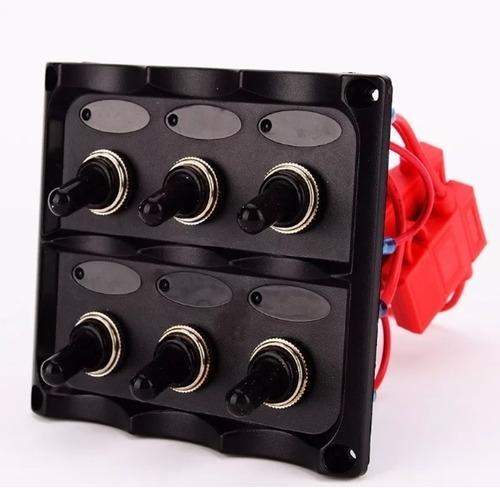 tablero nautico 6 interruptores negro (no envios)