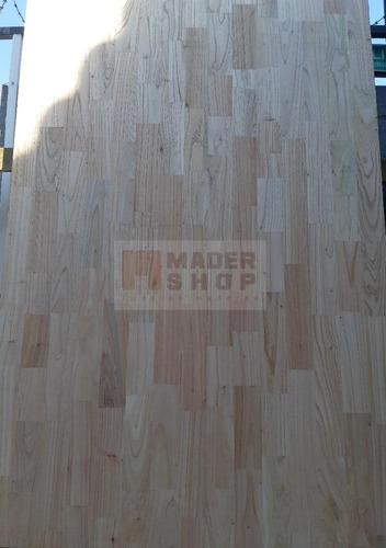 tablero-placa paraiso alistonado de 30 mm x 1.22 x 2.45 mts. - mader shop