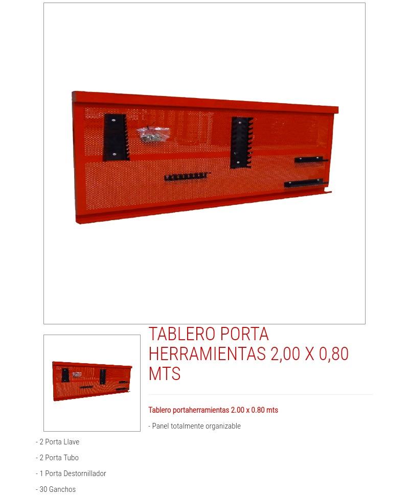 Descripción. Tablero Porta herramientas de 2 ... 2e678a8ed8dc