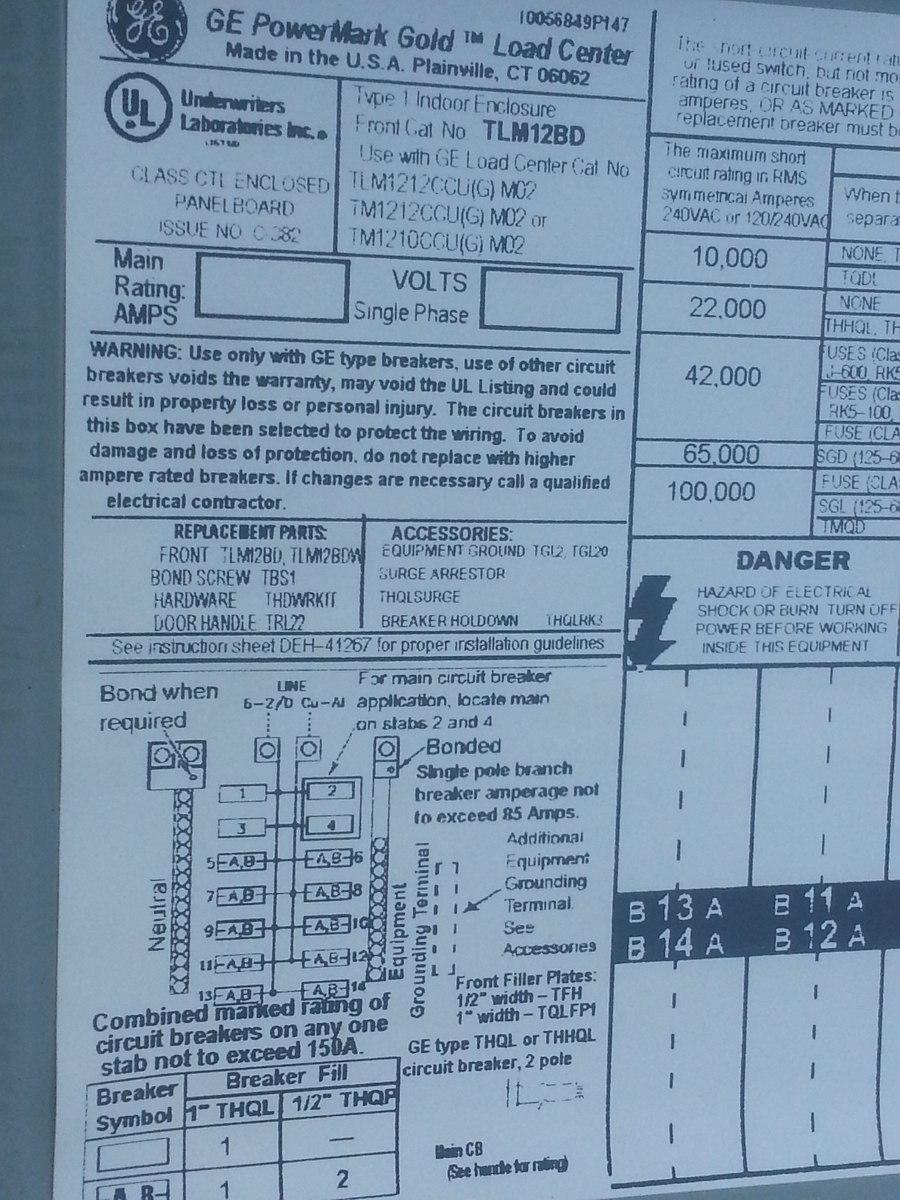 Circuito General : Tablero residencial de 14 circuito general electri bs. 1 60 en