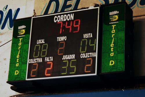 tableros, relojes y tanteadores basketball futbol