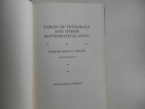 tables of integrals and other mathematical data  en ingles