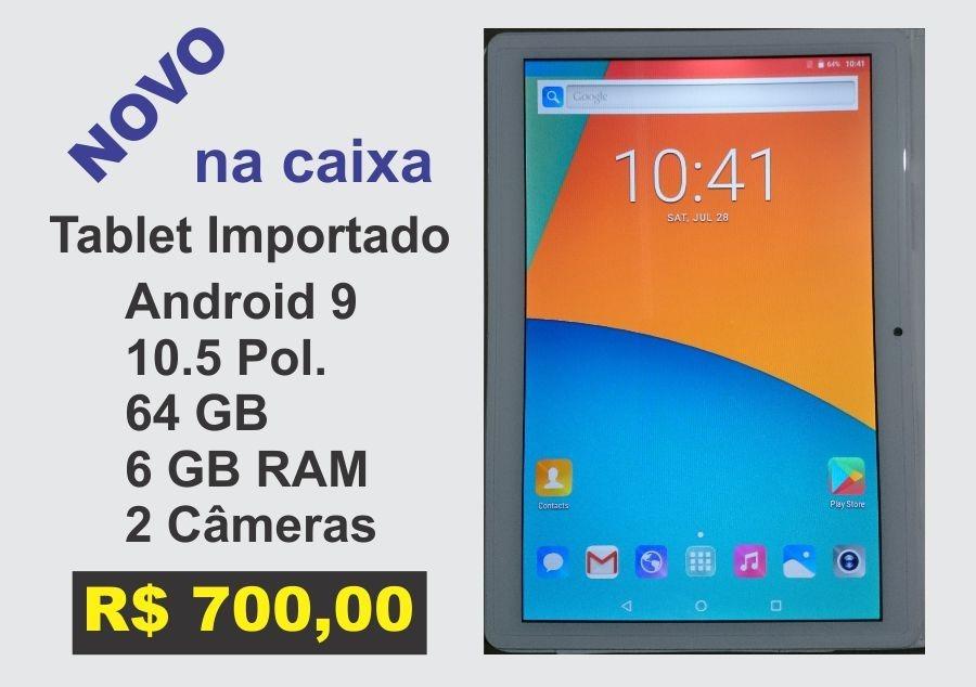 Tablet 10 Android 9 Oito Núcleos 6 Gb Ram 64 Rom Importado