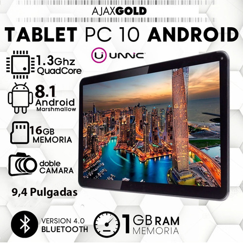 tablet 10 android quad core bluetooth pc 3g hd 16gb + funda protectora