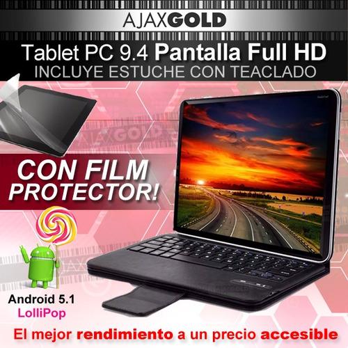 tablet 10 android quad core netbook pc funda teclado gratis