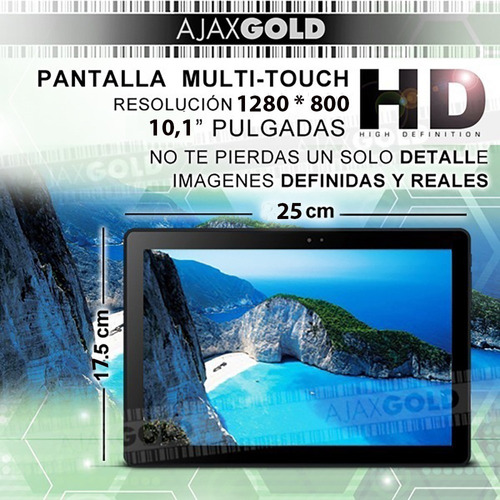 tablet 10 android wifi pc hd 16gb ips hdmi excer 10 pro