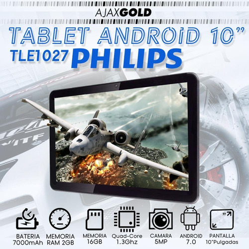 tablet 10.1 philips e-line android 7.0 2gb ram quadcore ips