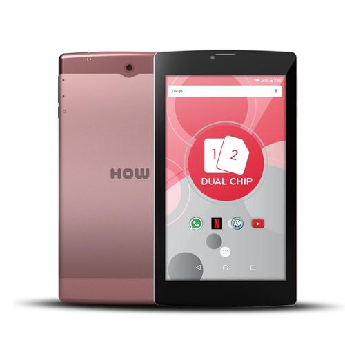 tablet 3g 2 chip dual sim how 8gb wifi gps 705g 7  cor rosa