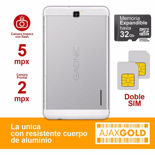 tablet 4g telefono android celular pc dual chip + gps