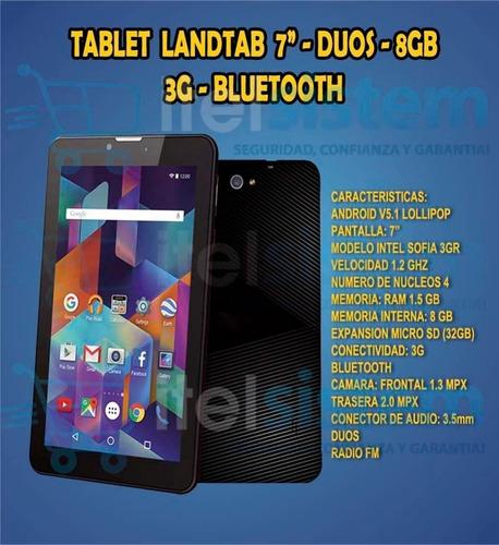 tablet 7 8gb 3g doble chip ram 1.5gb celular wifi itelsistem