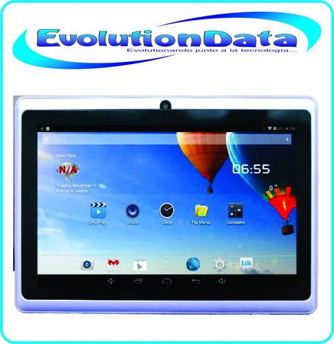 tablet 7 android 4.4 8gb quad core doble cámara flash wifi