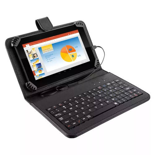 tablet 7´´ quadcore 8gb android 4.4 wi-fi capa c/ teclado &+