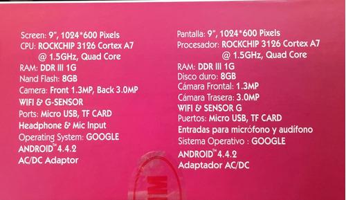 tablet 9  telefunken regalo teclado y auricular