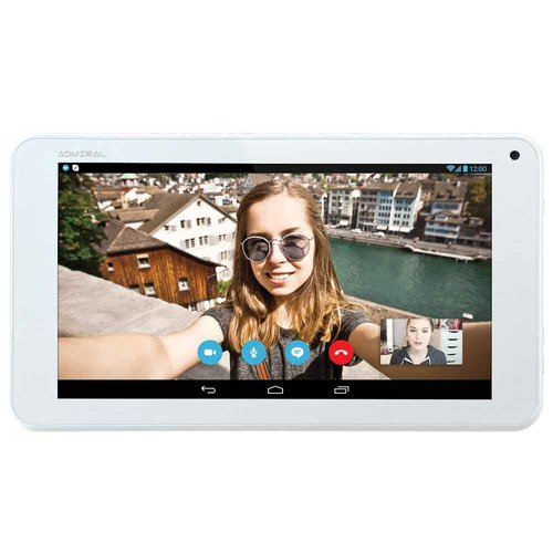 tablet admiral one white 7 + parlante bluetooth