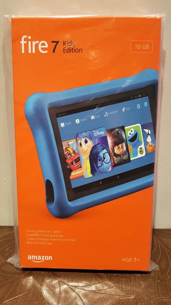 Tablet Amazon Fire 7 Kids Edition 7 16gb Azul Nuevas En Caja