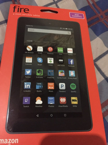 tablet amazon fire 8gb negro y magenta s/.200.00