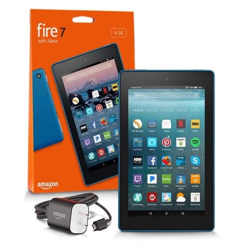 tablet amazon fire hd7  8gb 7 alexa  azul