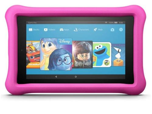 tablet amazon fire kids 7  16gb rosado case a prueba d niños