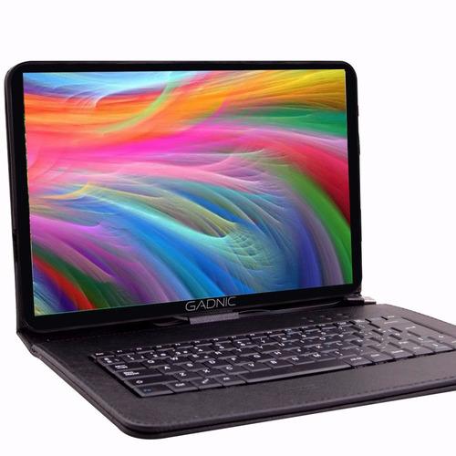 tablet android 10 quad hdmi bluetooth wifi + funda teclado