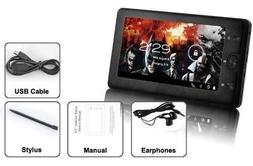 tablet android 4.0 rock pocket 4,3 pol. frete grátis
