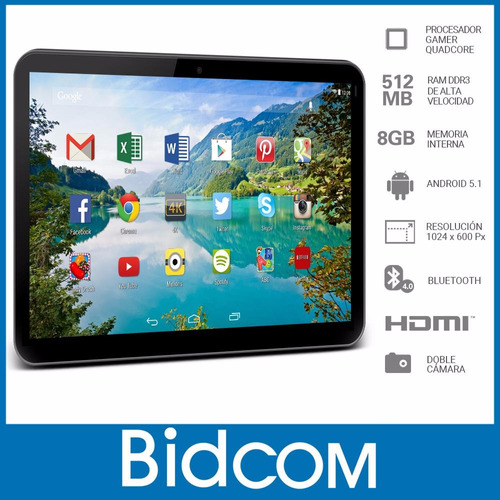 tablet android 4g quadcore camara con flash gadnic + regalos