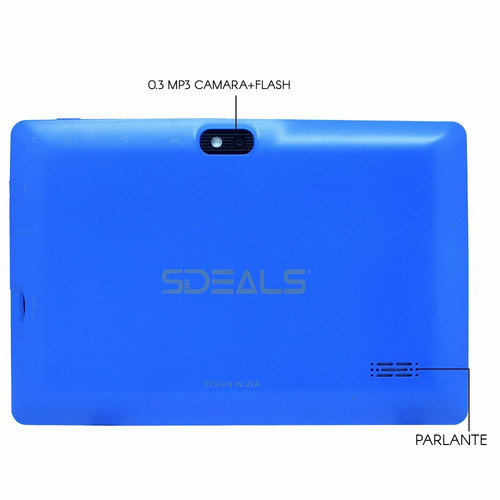tablet android 8gb sdeals 2cam sd flash bth wifi azul