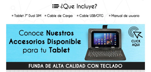 tablet android pc 7 3g dual chip wifi + funda teclado oferta