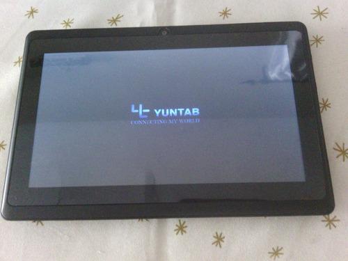 tablet androide, yuntab de 7 pulgadas con sus protectores