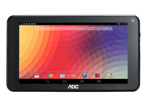 tablet aoc a727 7  wifi negra 1gb 8gb android 6.0