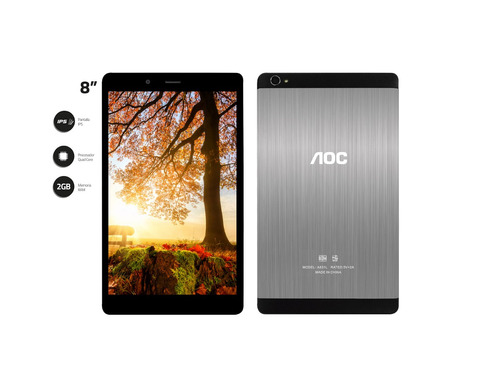tablet aoc a831ld 3g/4g lte 2 gb ram 8  ips