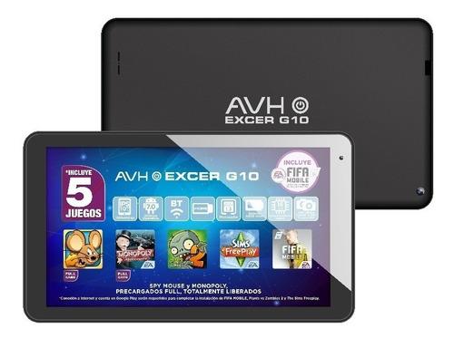 tablet avh excer g10 10´ 16 gb wifi bluetooth 1gb ram juegos