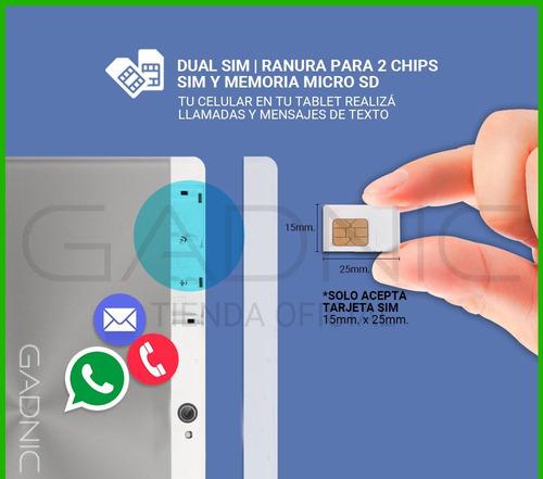tablet chip celular 4g 10 octacore 2gb 32gb gps + auricular