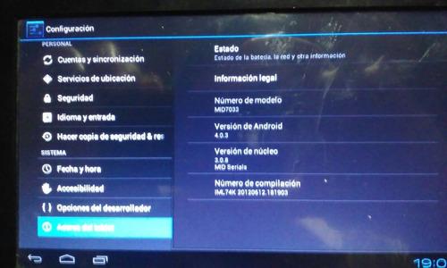 tablet de 7  coby,con android