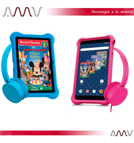 tablet disney airbook kids 7 ips 8gb wifi android amv