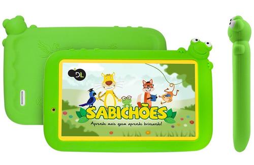 tablet dl sabichões tx386 branco - tela 7'', 8gb, wi-fi, c