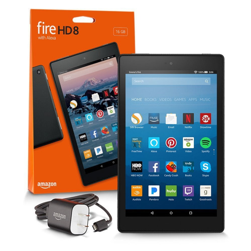 tablet fire hd 8, 8 pulg, 16 gb,  wi-fi, r y m