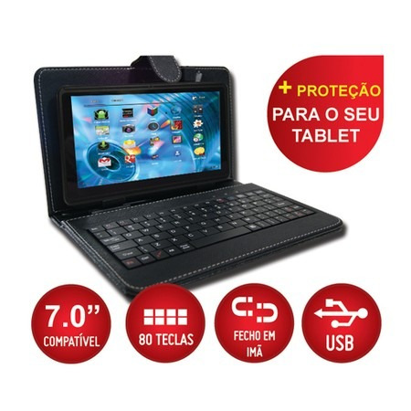 tablet função celular 2 chip 3g wifi gps + teclado